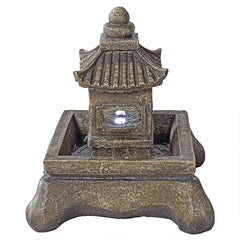 Mokoshi Pagoda Illuminated Garden Fountain
