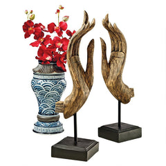 Buddha Mudras Sculptures: Set of Two