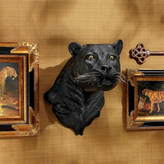 Shadow Predator Black Panther Wall Sculpture