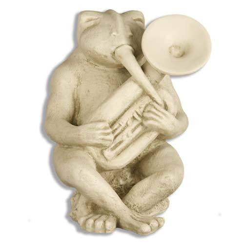 Frog Singing Jazz-Tuba 14 Garden Animal Statue
