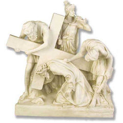 XoticBrands Jesus Falls The 1St Time Station # 3 Religious Sculpture