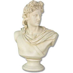 Apollo Bust Medium 22 H -  Greek & Roman Busts