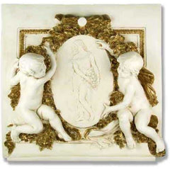 Labelle Demoiselle Cherub Plq - Architectural   Over Door Plaques
