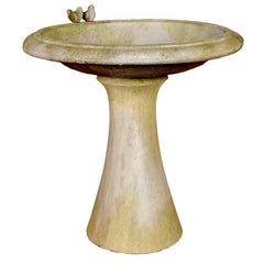 Sleek Birdbath w/Birds Garden Display