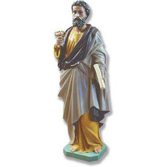 "XoticBrands Saint Peter 63"" H Large Religious Sculpture"