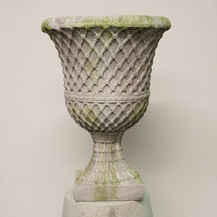 LATTICE BUTTON URN  Planters  Sculpture