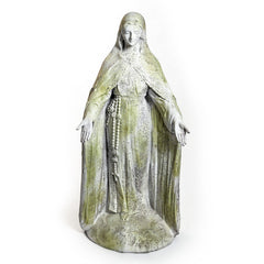 "Mary Of The Rosary with Lace 49""H Large Religious Sculpture"