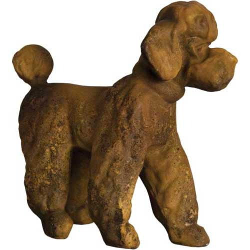 Poodle Fancy 16 H Garden Animal Statue