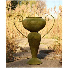 Abraham Urn W/Iron Handle 36 Garden Display