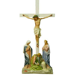 XoticBrands Jesus Is Crucified w/cross Station # 12 Religious Sculpture