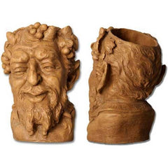 XoticBrands Bacchus Head Planter/Wine 13 Gargoyle Sculpture