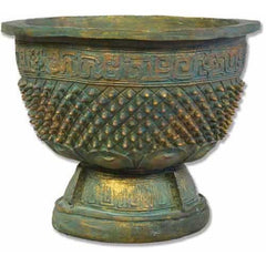 Eastern Oxidized Urn Garden Planter