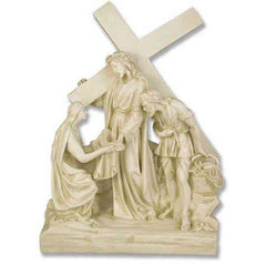 XoticBrands Jesus Meets Veronica Station # 6 Religious Sculpture
