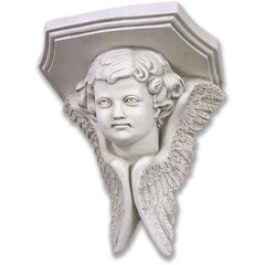 Angel Face Wing Colossal 16 H Garden Angel Statue