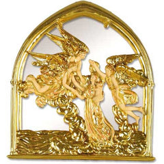 XoticBrands Angels Of The Sea Mirror 10 Religious Sculpture