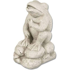 XoticBrands Cracked Up Frog 12 Garden Animal Statue