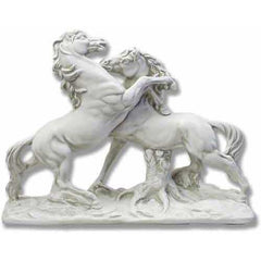 Fighting Horses Garden Animal Statue