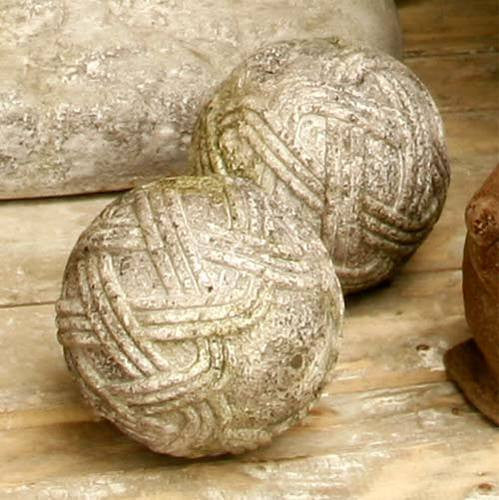 Stone Rope Sphere 4 - Architectural   Finials
