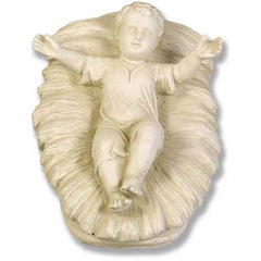 XoticBrands Baby Jesus In Manger 9 Religious Sculpture