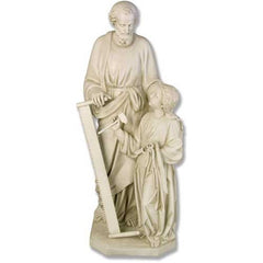 XoticBrands Joseph & Child with Tools 55 Large Religious Sculpture