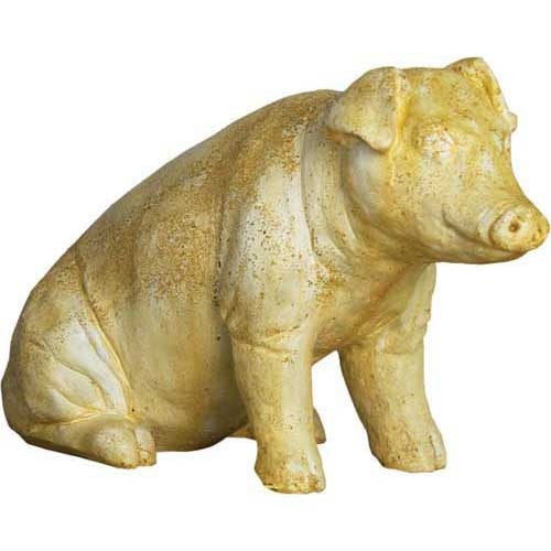Arnold The Pig Sitting 15 H Garden Animal Statue