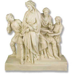 XoticBrands Jesus Is Condemned Station # 1 Religious Sculpture