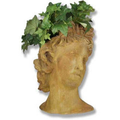 Apollo Head Planter 17 -  Greek & Roman Busts