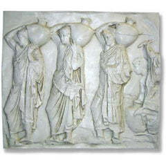 Urn Carrier Frieze Animal Wall  Sculpture