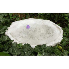 Octagonal Ground Birdbath 18 Garden Display