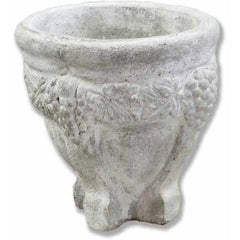 Grape Round Urn 14  Planters  Sculpture