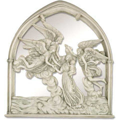 "Angels Of The Sea Mirror 10""H Religious Sculpture"