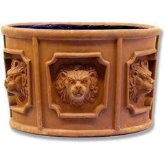 XoticBrands Six Lion Head Urn Garden Planter
