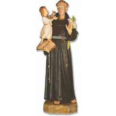 XoticBrands Saint Anthony With Child 53 Large Religious Sculpture