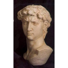 David Bust Large 18 -  Michelangelo Classical  Sculpture