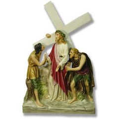 XoticBrands Jesus Is Given The Cross Station # 2 Religious Sculpture