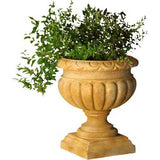 Tall Fluted Round Urn 21 H - Architectural   Urns