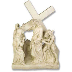 XoticBrands Jesus Meets His Mother Station # 4 Religious Sculpture