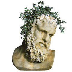 Hercules Bust Planter -  Greek & Roman Busts
