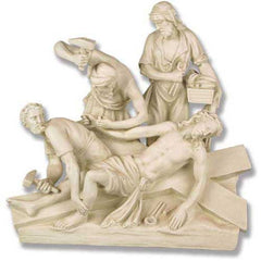 Jesus Is Nailed To Cross Station # 11 Religious Sculpture