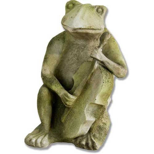 Frog Singing Jazz-Bass 15 Garden Animal Statue