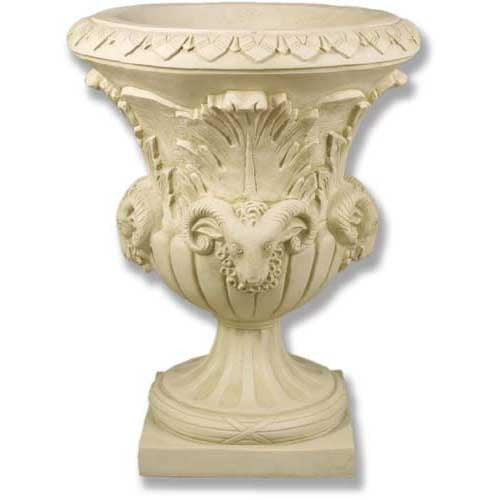XoticBrands Four Headed Ram Pot - Architectural   Urns