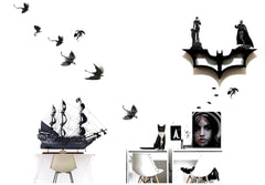 XoticBrands Decor Black Pearl Pirate Ship Model Display