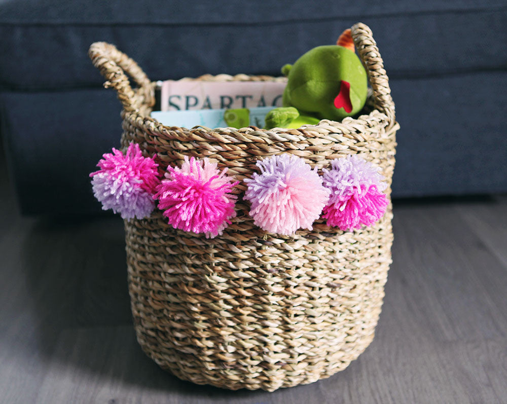 Kids: DIY Pom Pom Basket