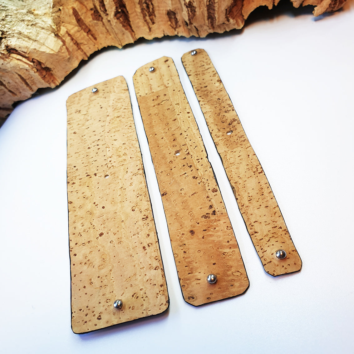 FABRIKK Interchangeable Cork Cuff Insert | Natural Bark | Vegan 'Leather'