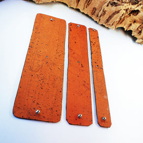 FABRIKK Interchangeable Cork Cuff Insert | Orange | Vegan 'Leather'