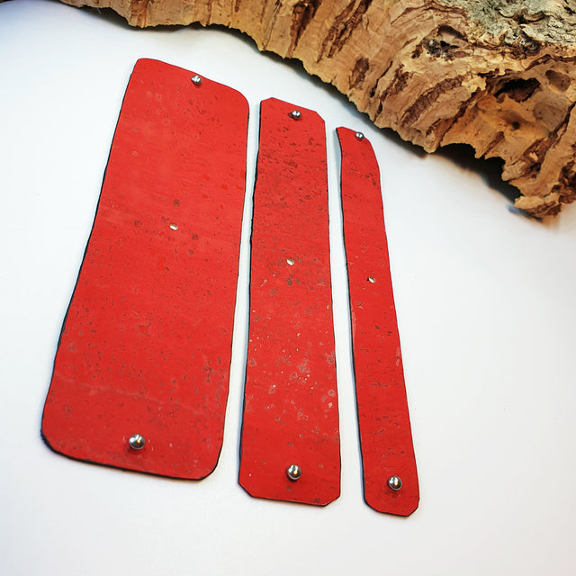 FABRIKK Interchangeable Cork Cuff Insert | Red | Vegan 'Leather'