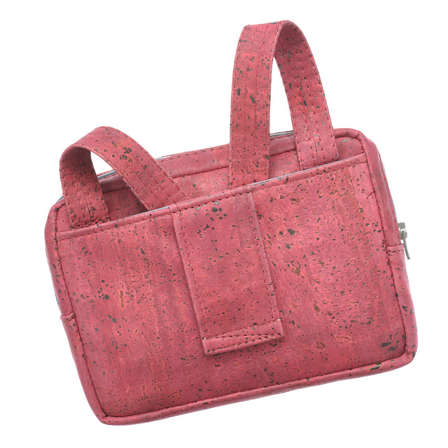 Theta | Pink Vegan Leather 'Cork' 3 Way Cross Body Mini Bag