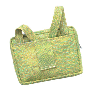 Theta | Green Snakeskin Vegan Leather 'Cork' Cross Body, Bum Bag, Mini Bag - Fabrikk