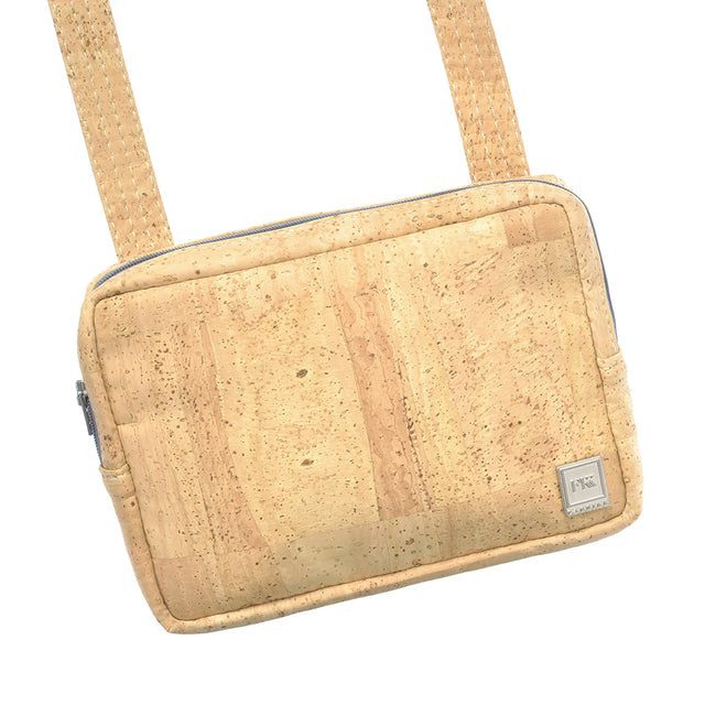Theta | Natural Cork 'Vegan Leather' Cross Body Mini Bag