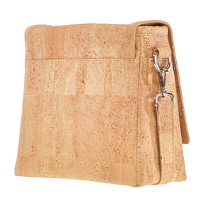 Fabrikk VELA LED Cork Handbag | Natural Bark | Vegan Leather